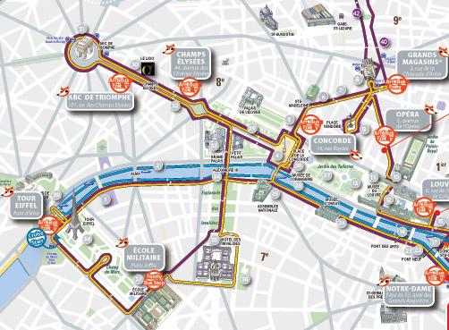 tour map bus access